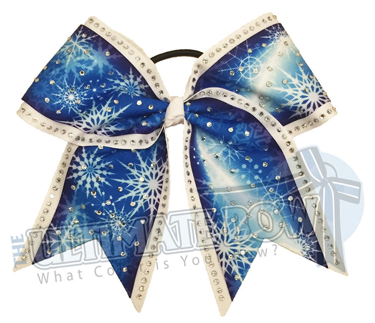 rhinestone-snowflakes-christmas-rhinestones-royal-blue-white-cheer-bow-cheer-camp-sideline-Christmas-parade-Holiday-Party