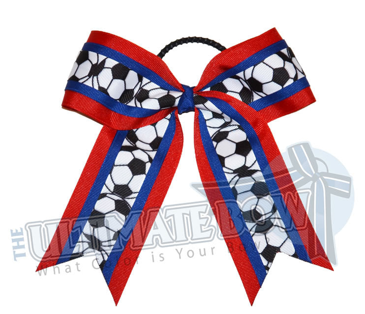 Soccer-balls-hair-bow-red-royal-blue-football