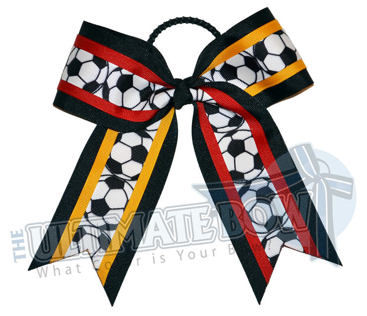 soccer-hair-bow-black-red-yellow-gold-soccer-balls