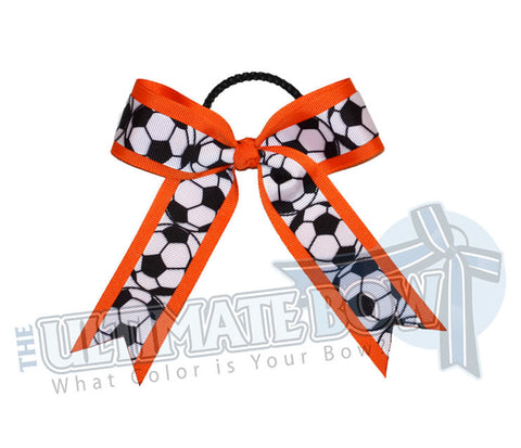 soccer-practice-game-hair-bow-orange-black-white-soccer-balls