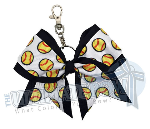 Ultimate Softball Key Chain Bow