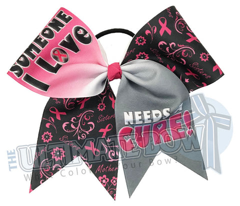 Someone I Love Needs a Cure breast-cancer-awareness-cheer-bow-softball-hot-pink-believe-support-pink-ribbon-awareness