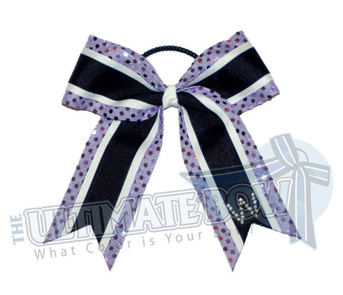 spirit-sparkle-lavender-sequin-dots-rhinestone-initial-black-cheer-bow