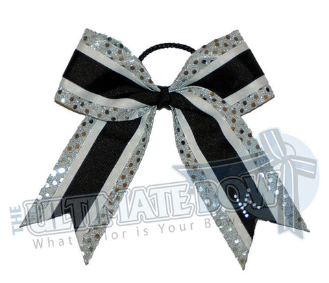 spirit-sparkle-silver-sequin-dots-rhinestone-initial-black-cheer-bow