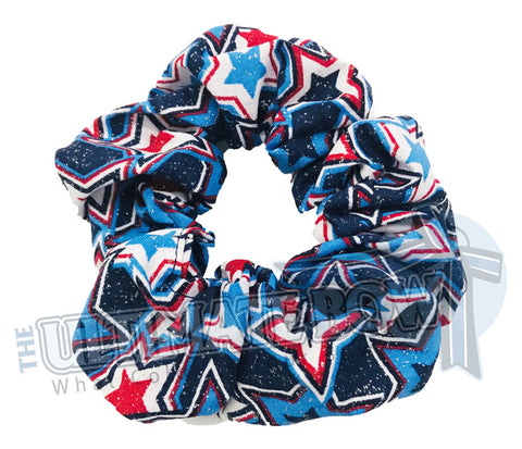 Star Spangled Scrunchies | Red White and Blue Scrunchies