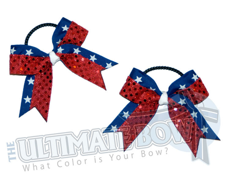 star-struck-pig-tail-cheer-bow-royal-blue-red-sequin-dots