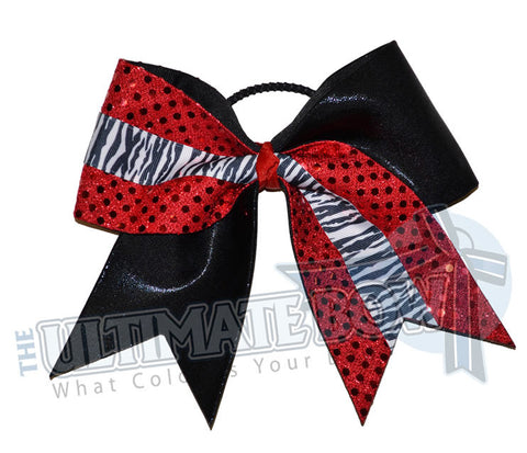 Superior-animal-zebra-stripes-black-mystic-red-sequins
