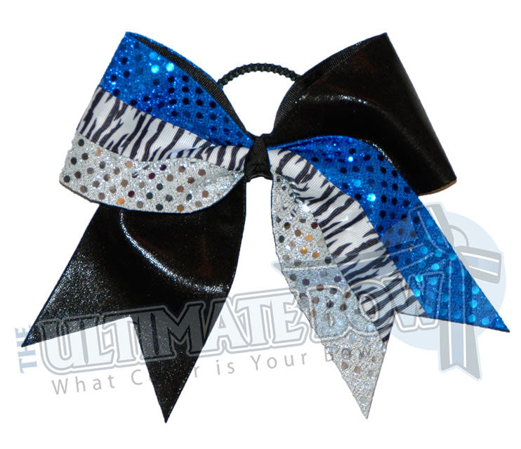 Superior-animal-zebra-black-mystic-royal-blue-silver-sequins