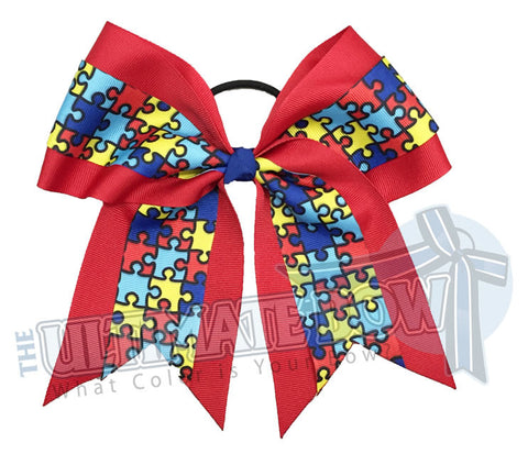Autism-Awareness-cheer-bow-softball-autism-speaks-Puzzle-piece-red