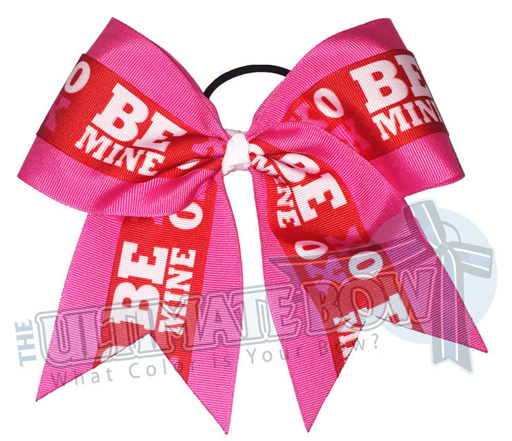 Be-Mine-Cheer-Bow-XOXO-Valentines-Day-Love-Hearts-Pink