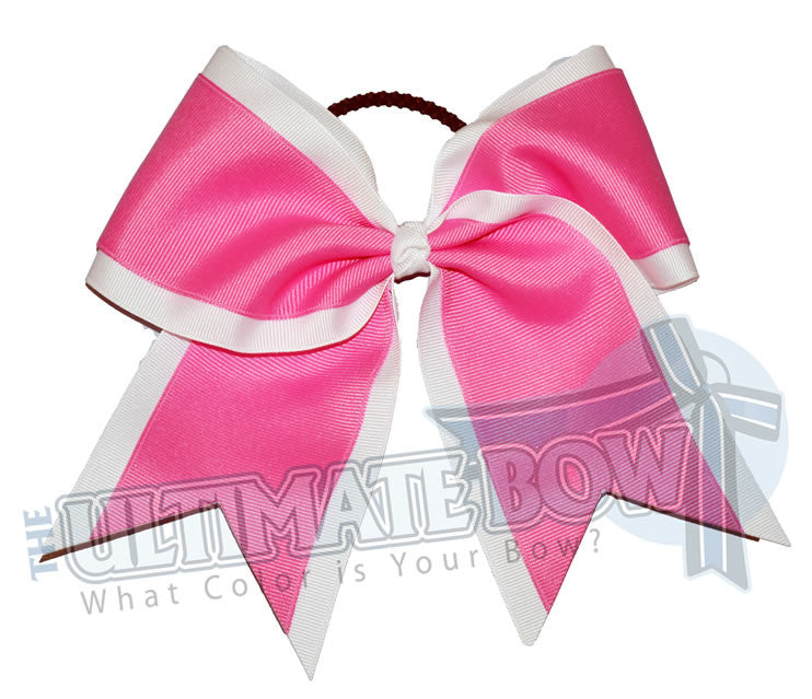 Superior-cheer-camp-white-hot-pink-cheer-bow- breast-cancer-bows-pink-ribbon