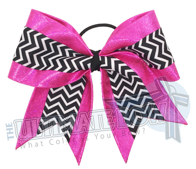 superior-cheer-bow-texas-sized-mystic-diva-shiny-chevron-hot-pink-black-white
