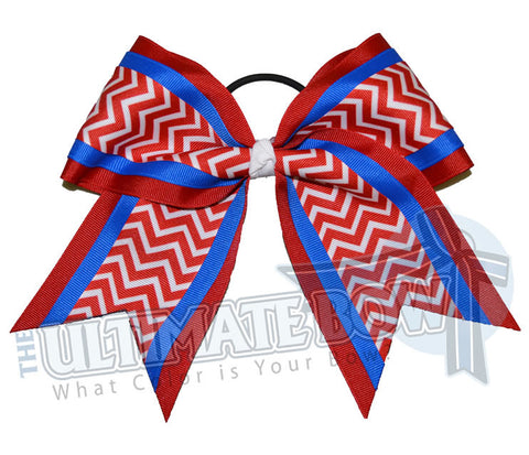 Superior Chevron Spirit Cheer Bow | Practice Cheer Bow