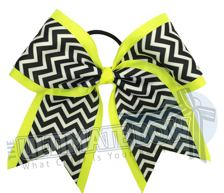 Superior-chevron-cheer-camp-softball-practice-cheer-bow-ansi-yellow-black-white-chevron