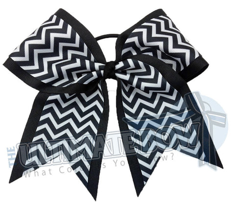 Superior-chevron-cheer-camp-softball-practice-cheer-bow-black-white-chevron