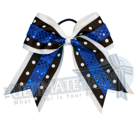 Superior Dazzle Dots Cheer Bow