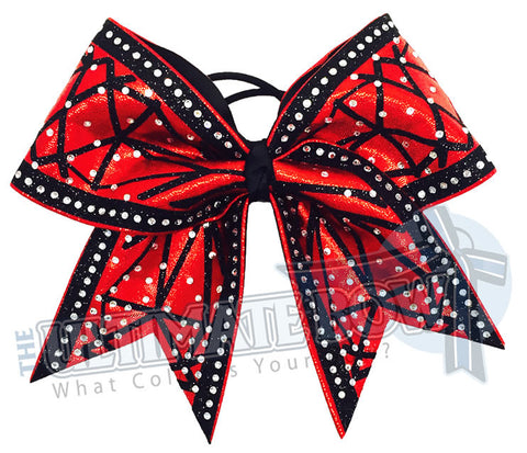 red-mystic-mystique-glitter-trimmed-black-rhinestones-cheer-bow-superior-texas-sized-diamonds-diamond-jewels-faceted