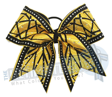 Superior Diamond Facets | Mystic Competition Bow | Glitter Rhinestone Cheer Bow