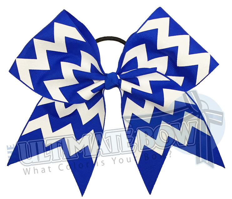 glitter-chevron cheer-bow-electric-blue-white-glitter-softball-spark