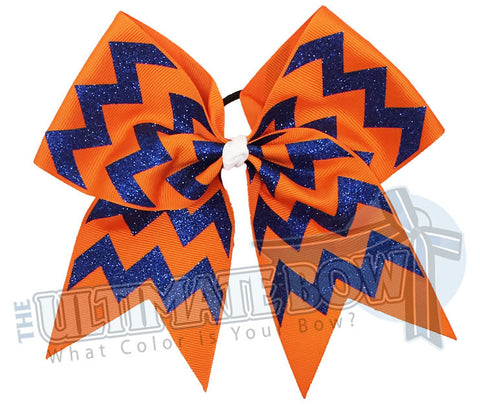 glitter-chevron cheer-bow-orange-royal-blue-glitter-softball-spark
