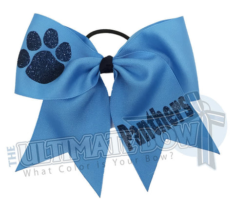 Superior-texas-sized-glitter-paw-print-cheer-softball-bow-columbia-blue-navy-copen