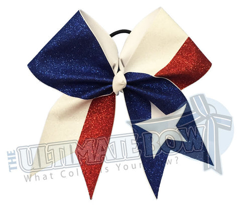 Superior Glitter Stars and Stripes Cheer Bow