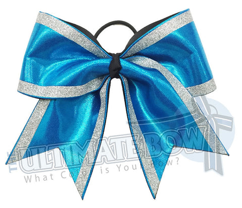 Superior Glitter Trimmed Diva Cheer Bow | Glitter Competition Cheer Bow