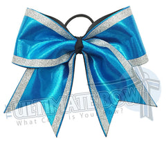 Superior-glitter-trimmed-diva-cheer-bow-mystic-mystique-silver-turquoise