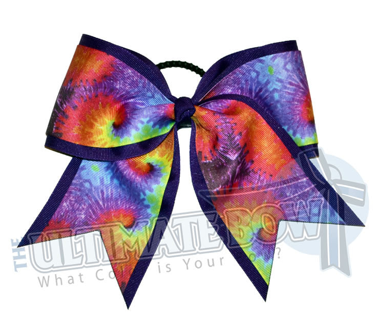 Superior-groovy-tie-dye-cheer-camp-softball-practice-cheer-bow-softball-purple