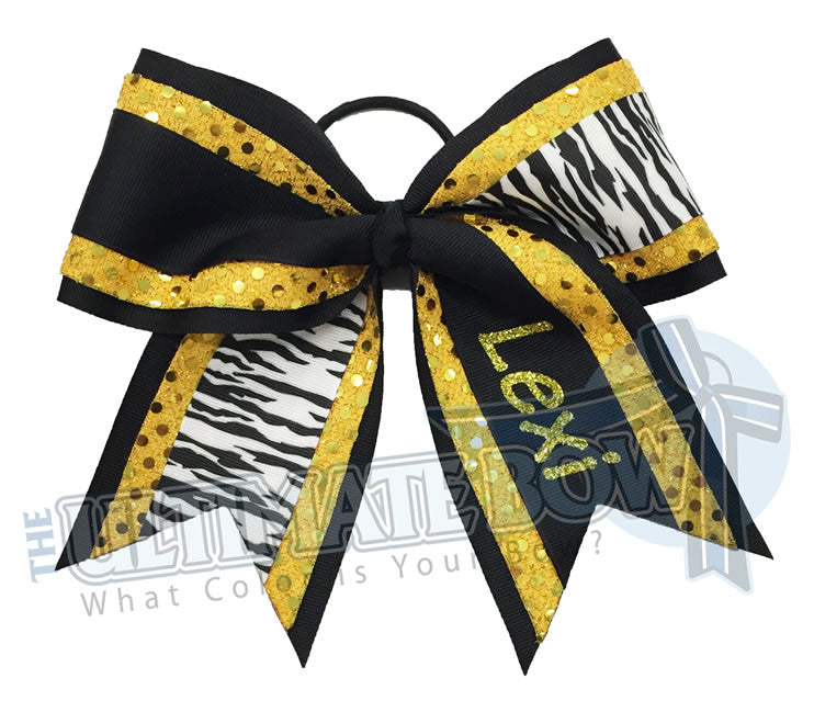superior-cheer-bow-jungle-girl-glitter-zebra-animal-print-sequins-black-yellow-gold