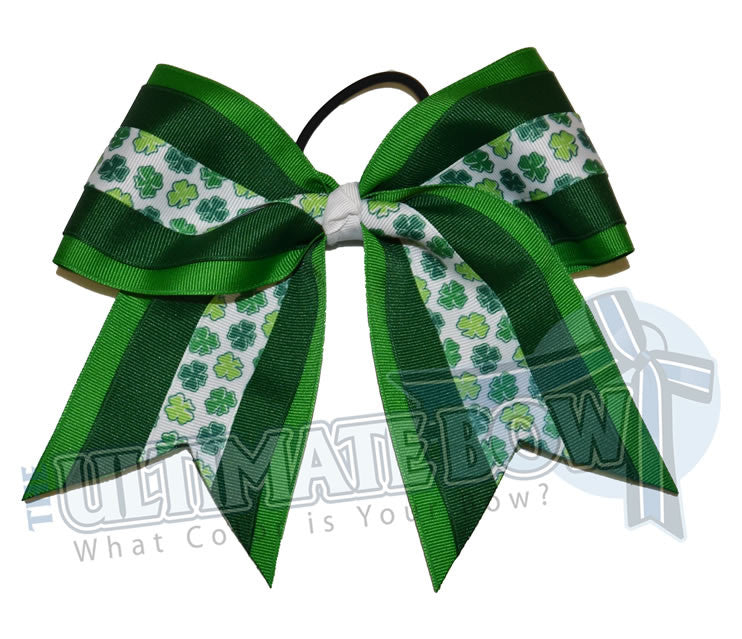 Lucky-shamrock-cheer-bow-forest-green-emerald-four-leaf-clover