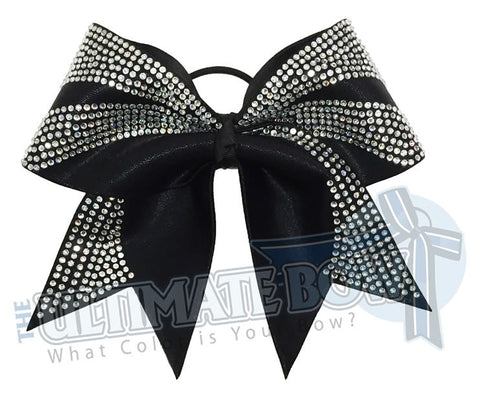 Superior Rhinestone Ascent Cheer Bow | Rhinestone Cheer Bow | Mystic Competition Cheer Bow