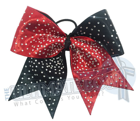 Superior Rhinestone Burst | Mystic Competition Cheer Bow | Rhinestone Cheerleading Bow