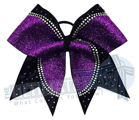 Superior Rhinestone Champion Cheer Bow | Mystic Competition Cheer Bow | Rhinestone Cheer Bow