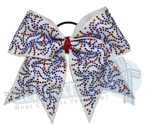 Superior-rhinestone-fierce-big-white-bow-cobalt-red-crystal-clear-rhinstones