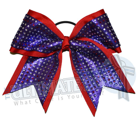 Superior Rhinestone Glitz | Mystic Competition Cheer Bow | Rhinestone Cheer Bow