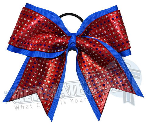 superior-rhinestone-glitz-electric-blue-red-cheer-bow