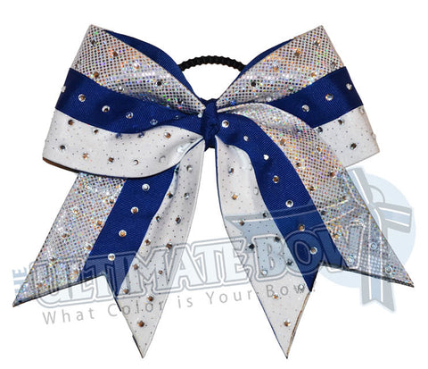Superior-rhinestone-intensity-cheer-bow-silver-royal-blue-white