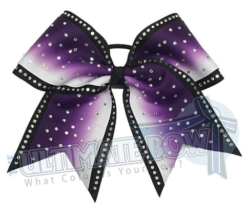 rhinestone-ombre-effect-rhinestone-purple-white-black-cheer-bow-cheer-camp-sideline