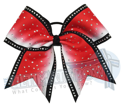 Superior Rhinestone Ombre Shimmer Cheer Bow