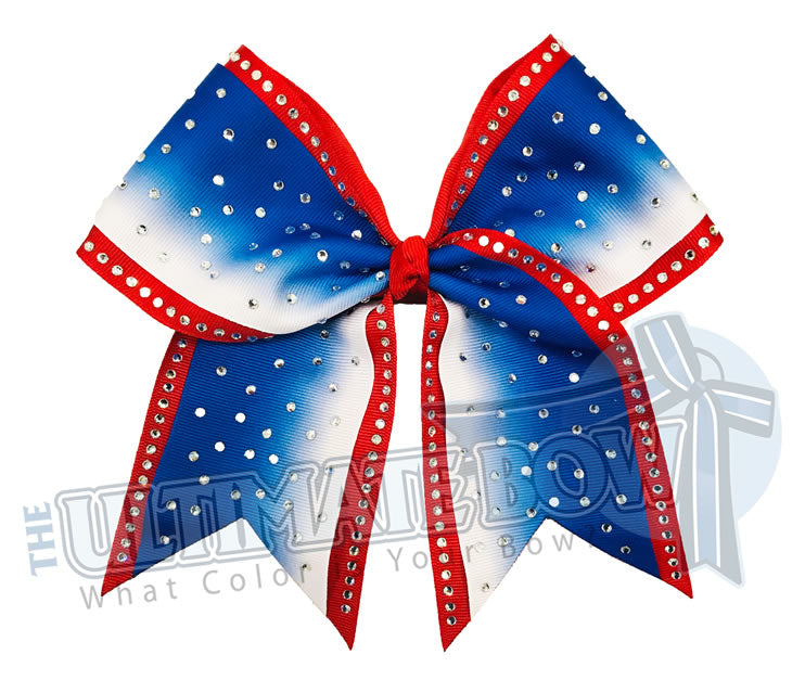 rhinestone-ombre-effect-rhinestone-royal-blue-white-red-cheer-bow-cheer-camp-sideline