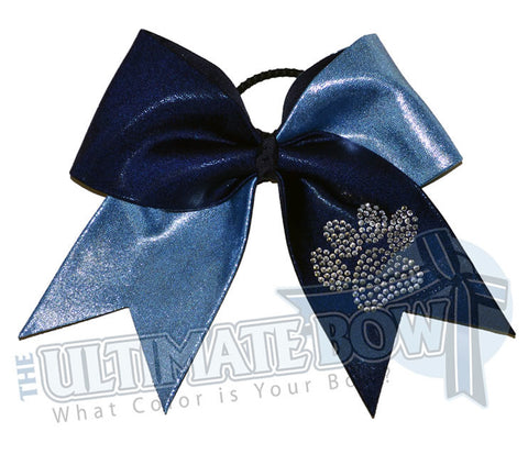 superior-rhinestone-paw-print-navy-columbia-blue-cheer-bow