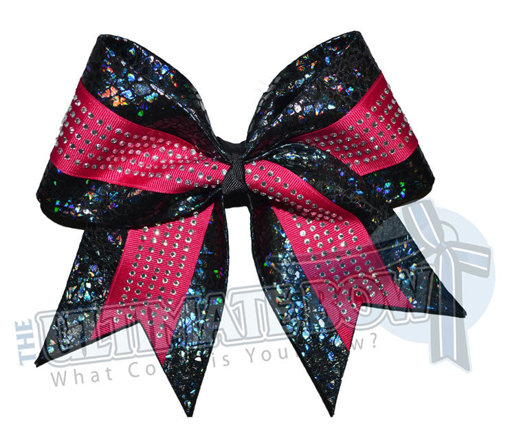 superior-rhinestone-sea-glass-black-hot-pink-crystal-cheer-bow