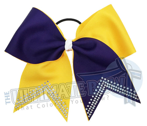 Superior-Rhinestone-V-white-purple-yellow-gold-softball-bow-rhinestone-bow-practice-bow-sideline-basketball-football-college-high-school-cheer-bow