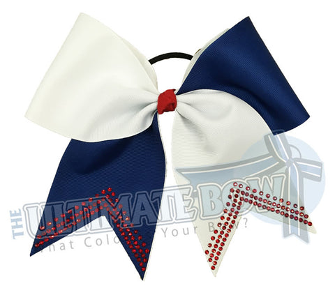 Superior-Rhinestone-V-white-red-royal-blue-softball-bow-rhinestone-bow-practice-bow-sideline-basketball-football-college-high-school