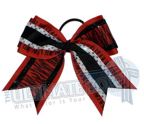 superior-zebra-twist-black-red-silver-sequins-cheer-bow