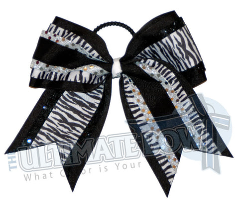 superior-zebra-twist-black-white-silver-sequins-cheer-bow