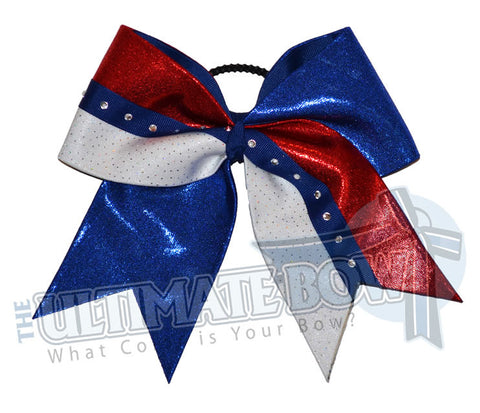 Superior Sparkling Diva | Mystic Cheer Bow | Rhinestone Cheerleading Bow