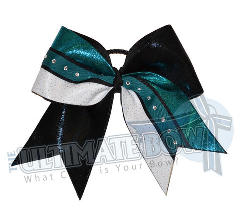 superior-sparkling-diva-rhinestone-cheer-bow-teal-black-white