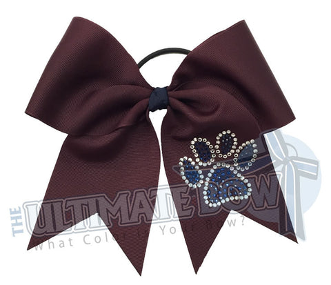 superior-rhinestone-paw-print-navy-maroon-crystal-cheer-bow